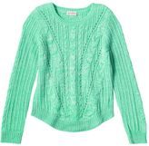Girls 7-16 & Plus Size SO® Perfectly Soft Metallic Cable Knit Sweater
