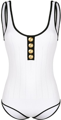 Balmain Button Embellished Bodysuit