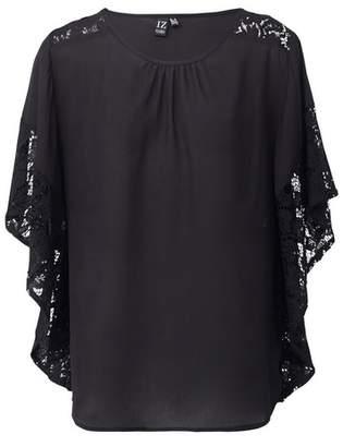 Dorothy Perkins Womens *Izabel London Black Lace Sleeve Top, Black