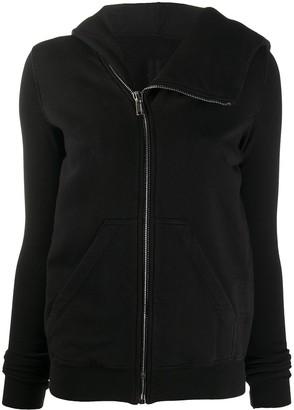 Rick Owens Asymmetric Collar Zip-Up Hoodie