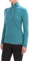 Neve Anne Multicolor-Trim Sweater - Merino Wool (For Women)