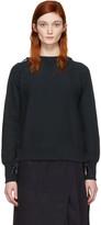 Facetasm Navy Lace-up Sweatshirt