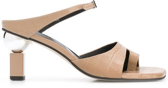 YUUL YIE Sculpted Heel Strappy Sandals
