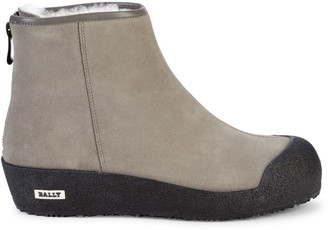 Bally Guard II Shearling-Lined Suede Winter Ankle Boots