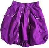 Jean Paul Gaultier Purple Cotton Skirt for Women