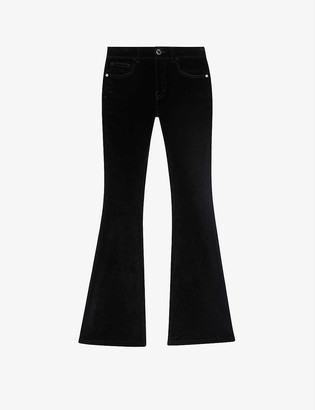 Maje Pacha high-rise flared denim jeans