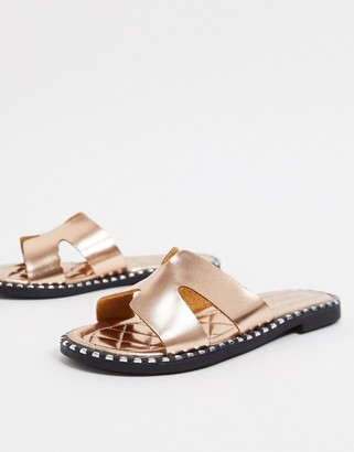 Truffle Collection flat sliders in rose gold