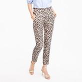 J.Crew Petite ruffle-waist linen pant in leopard print