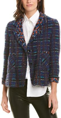 Anna Sui Braided Tweed Wool-Blend Jacket