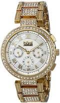 Burgi Women's BUR123YG Analog Display Swiss Quartz Gold Watch