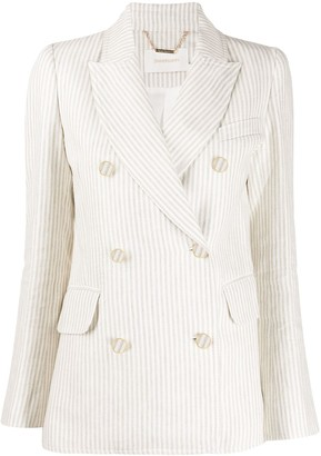 Zimmermann double breasted striped blazer