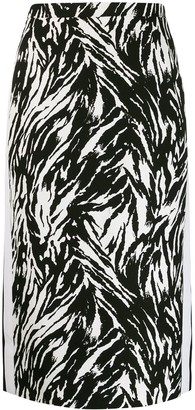 No.21 Zebra Print Pencil Skirt
