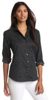 Foxcroft Women's Geo Dot Wrinkle Free Shirt