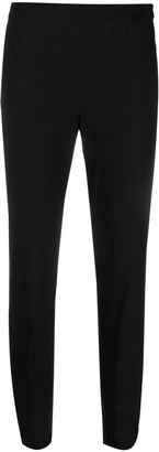 Twin-Set Tonal Embroidered Logo Cropped Trousers