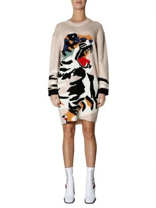 Kenzo Tiger Embroidered Jumper Dress