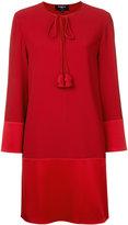 Paule Ka long sleeve woven mini dress