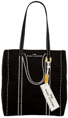 Marc Jacobs The Medium Canvas Trompe L'Oeil Tag Tote Bag