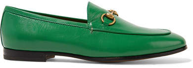 Gucci Jordaan Horsebit-detailed Leather Loafers - Green