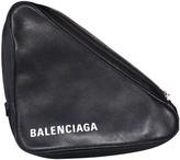 Balenciaga Triangle Black Leather Clutch bags