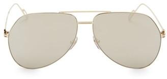 Cartier 62MM Metal Aviator Sunglasses