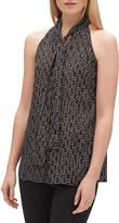 Lafayette 148 New York Amore Piazza-Print Tie-Neck Halter Top