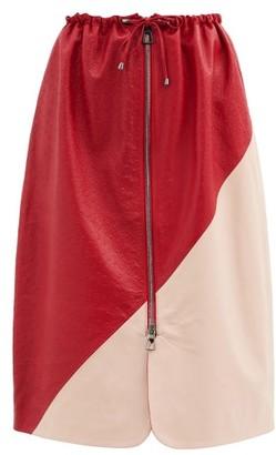 Dodo Bar Or Jonna Drawstring Leather Skirt - Red Multi