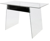 Lumisource Glacier Stainless Steel Office Desk