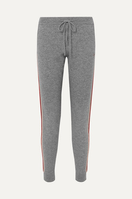 Chinti and Parker Ringmaster Striped Cashmere And Wool-blend Track Pants - Gray