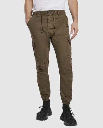 Urban Classics Men's Brown Tapered pants - UC Cuffed Cargo Jogging Pants - Size One Size, L at The Iconic