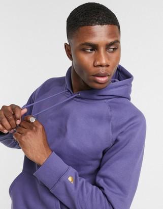 Carhartt WIP chase hoodie in violet