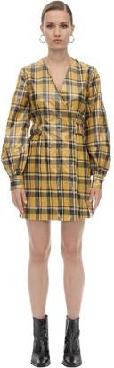 Ganni Coated Cotton Twill Mini Dress