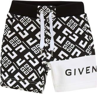 Givenchy Boy's 4-G Printed Drawstring Shorts, Size 2-3