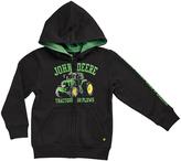 John Deere Black 'Tractors and Plows' Fleece Zip-Up Hoodie - Boys
