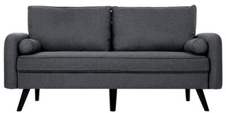 "George Oliver Tisa 70"" Round Arm Sofa Fabric: Gray"