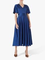 Hobbs Angelina Satin Dress, Regal Blue