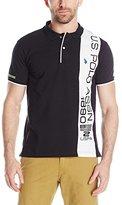 U.S. Polo Assn. Men's Vertical Text Pique Polo Shirt