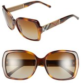 Burberry Women's 58Mm Polarized Sunglasses - Havana