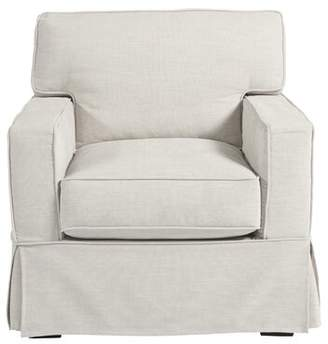 "Universal Furniture Coastal LivingTM By Chatham 22.5"" Armchair Coastal Living by Fabric: White"