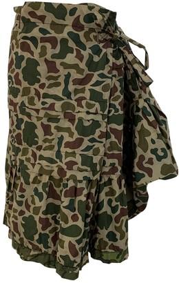Comme des Garcons Green Cotton Skirt for Women