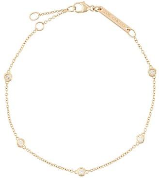 Zoë Chicco 14kt Yellow Gold Five Floating Diamond Bracelet
