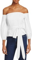Lucy Paris Monica Off-The-Shoulder Belted Top