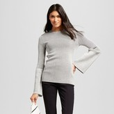 Who What Wear Women's Ribbed Trumpet Sleeve