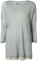 Fabiana Filippi three-quarter sleeve top - women - Linen/Flax/Polyamide - 42