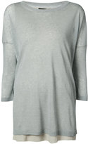 Fabiana Filippi three-quarter sleeve top - women - Linen/Flax/Polyamide - 48