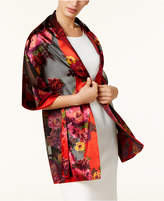 INC International Concepts Floral Satin Burnout Wrap, Created for Macy's