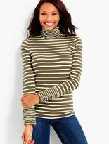 Talbots Long-Sleeve Stripe Turtleneck