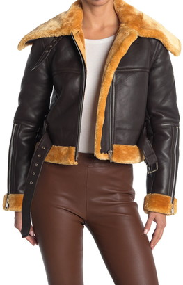 Walter Baker Mandie Faux Fur & Leather Jacket