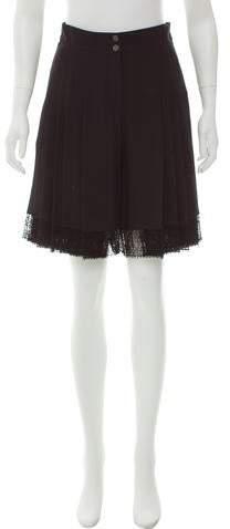 Chanel Silk High-Rise Shorts w/ Tags