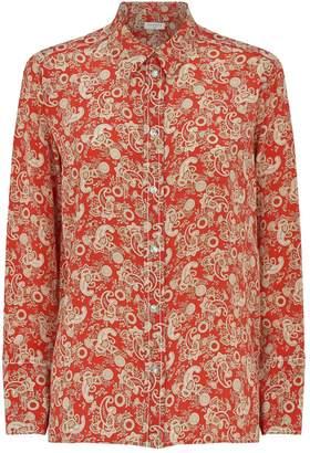 Sandro Paisley Silk Shirt
