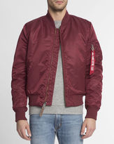 Alpha Industries Bordeaux MA-1 Bomber Jacket